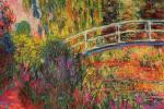 Клод Моне. Японский мостик (Пруд с водяными лилиями, ирисы)