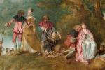 Антуан Ватто. Паломничество на остров Киферу (первый вариант). Фрагмент
