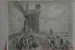 Stage work on the etching Black MILL, Winchelsea