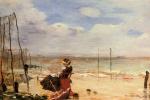 Норбер Гёнётт. Женщина на пляже