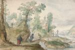 Хендрик Аверкамп. Церковь у лесной реки