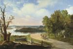 Аполлинарий Горавский. Пейзаж з рекой и дорогой