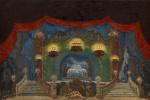 Василий Иванович Шухаев. Эскиз декорации. 1936