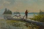 Уинслоу Хомер. Озеро Адирондак. Охотник