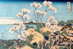 Кацусика Хокусай. Вид на Фудзи с горы Готэнъяма у реки Синагава
