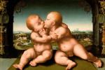 Йос ван Клеве. Младенцы Христос и Иоанн Креститель ок. 1530