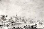 Ян ван Гойен. Гребцы на реке