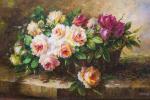 Савелий Камский. Букет роз в корзине