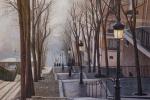 Paris. Fog. Montmartre