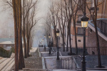 Савелий Камский. Париж. Туман. Монмартр