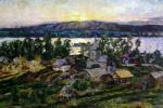 Аристарх Васильевич Лентулов. Закат на Волге