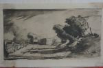 Hammersmith, The Storm. Lithography. Signature author