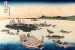 Кацусика Хокусай. Остров Цукуда в провинции Мусаси