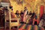 Андрей Петрович Рябушкин. Сидение царя Михаила Федоровича с боярами в его государевой комнате