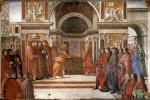 Доменико Гирландайо. Ангел Появившись перед Захарией