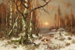 Юлий Юльевич Клевер. Закат в лесу