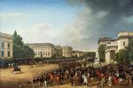 Франц Крюгер. Военный парад на Оперной площади в Берлине