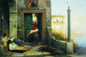 Fedor Andreevich Bronnikov. The patient at the walls of a Catholic monastery. 1874