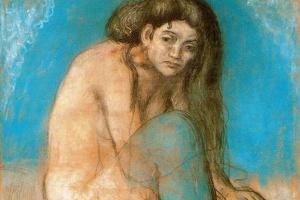 Пабло Пикассо. Обнажённая со скрещенными ногами