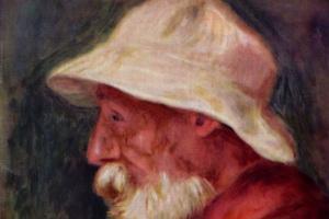 Пьер Огюст Ренуар. Автопортрет в белой шляпе