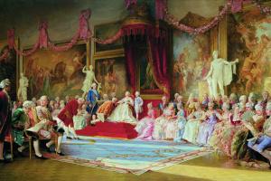 Валерий Иванович Якоби. Инаугурация Императорский Академии художеств 7 июля 1765 года. 1889