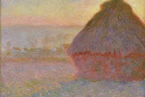 Стог сена на закате возле Живерни