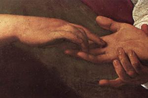 Микеланджело Меризи де Караваджо. Гадалка. Фрагмент
