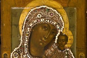 Неизвестный  художник. Казанская икона Божией Матери XVII- XVIII в.