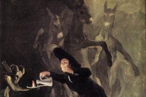Франсиско Гойя. Дьявольская лампа