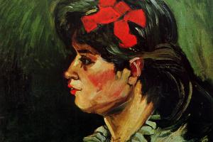 Винсент Ван Гог. Портрет женщины с красной лентой