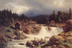 Hermann Ottomar Duke. Norwegian landscape