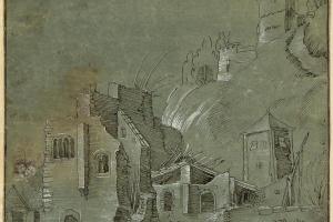 Развалины замка у подножия горы