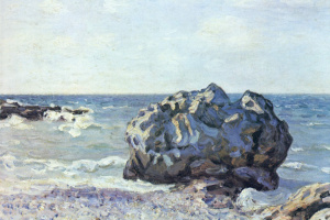 Alfred Sisley. Rock in the Bay Langlan