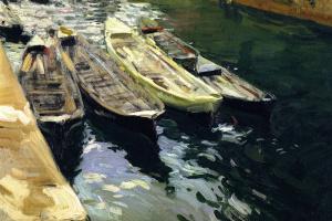 Хоакин Соролья (Соройя). Рыбацкие лодки, порт Сараус