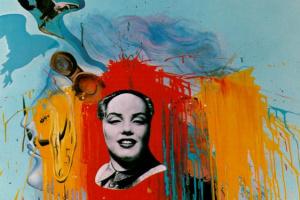 "Сальвадор Дали. Автопортрет (фотомонтаж ""Мао-Мэрилин"" Филиппа Халсмана)"