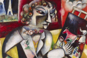 Марк Захарович Шагал. Автопортрет с семью пальцами