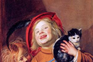Юдит Лейстер. Двое детей с кошкой