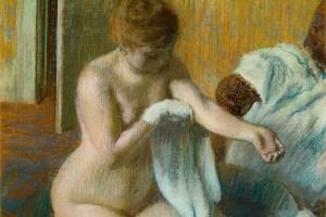 Эдгар Дега. Женщина в ванной