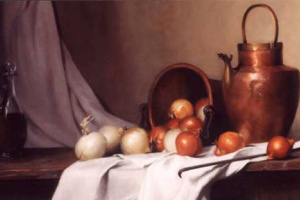 Морин Хайд. Натюрморт с хлебом и луком