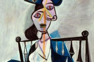 Пабло Пикассо. Женщина, сидящая в кресле (Дора Маар)