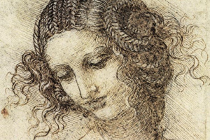 Head of Leda (sketch)