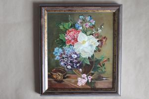 "Nastja Nova. Миниатюра ""Натюрморт  с цветами, ракушками"""