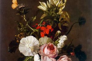 Рашель Рюйш. Букет цветов в вазе