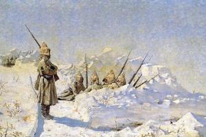 Василий Васильевич Верещагин. Снежные траншеи (Русские позиции на Шипкинском перевале)