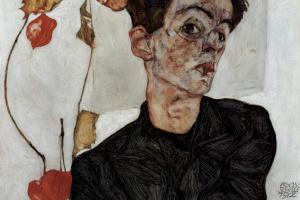 Эгон Шиле. Автопортрет с физалисом