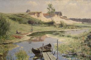Василий Дмитриевич Поленов. Лодка на реке