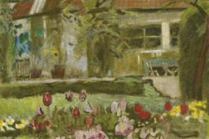Куно Амье. Весенний сад: клумба с тюльпанами