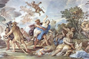 Лука Джордано. Фрески в галерее дворца Медичи-Риккарди во Флоренции. Сцена: Похищение Прозерпины