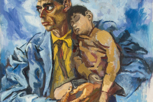 Renato Guttuso. Portrait of Rocco with his son