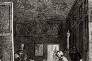 "Francisco Goya. ""Las Meninas"", by Velazquez"